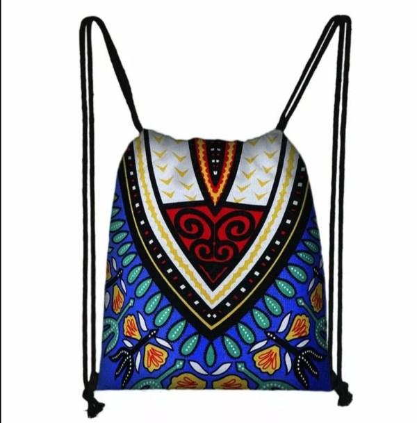 Dashiki Drawstring Bag