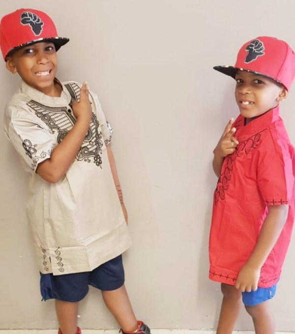 Kids African Embroidery Shirt