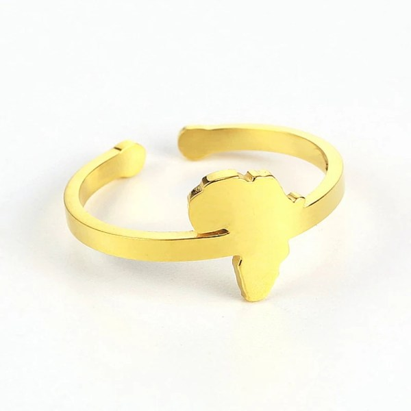 Africa Map Ring (Gold)