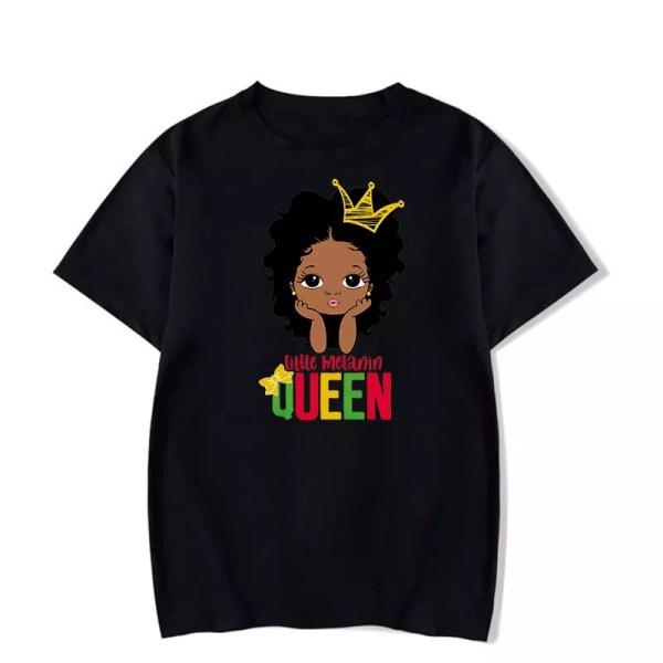 Little Melanin Queen Tshirt (Black)