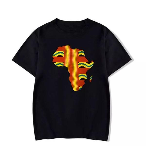 Africa Map Kids T-shirt (Black)