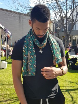 African Print Scarf (Green)