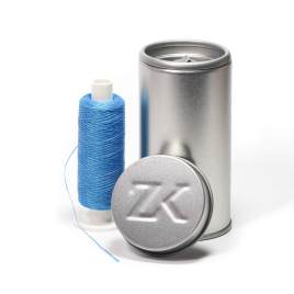 200 m zahnseide blau gewachst polyester zahnseidenkampagne