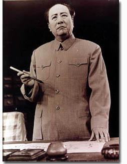 Zhang Keyao interpretando a Mao Zedong