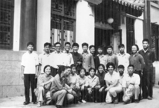 Alumnos de español de la Universidad de Pekín con mi madre
