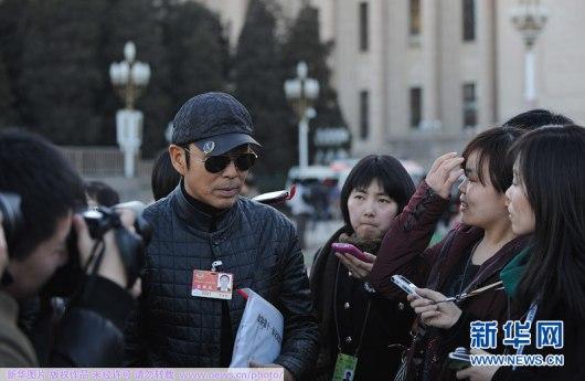 Expectación para ver al famoso actor Chen Daoming.