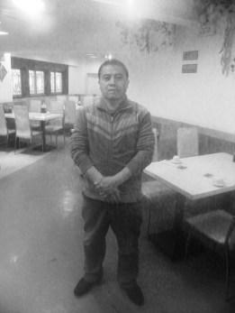 Lin Jun en su restaurante de Shanghai