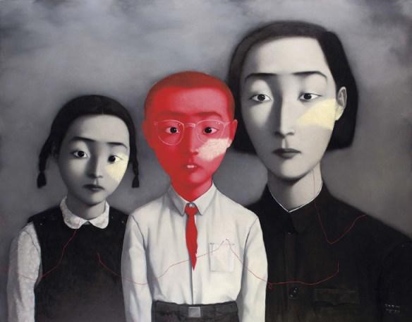 """""""Familia"""", de Zhang Xiaogang."""