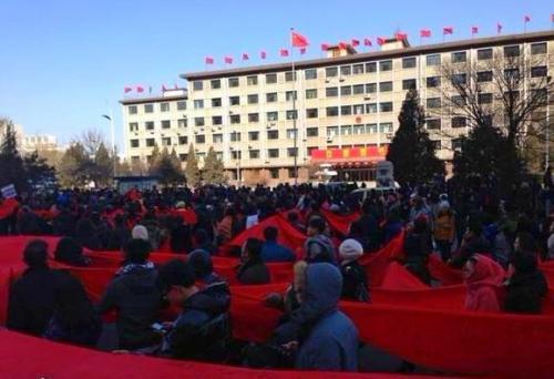 Manifestaciones a favor del ex-alcalde de Datong.