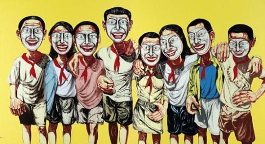 Una de las obras de Zeng Fanzhi