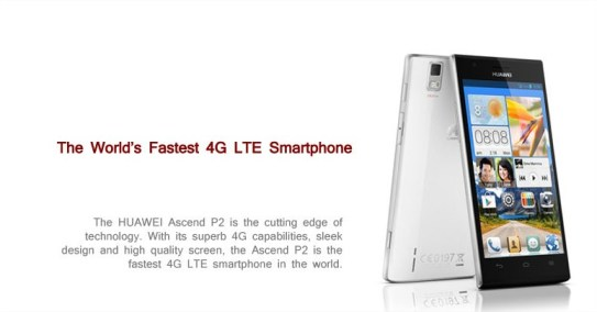 El nuevo Ascend P2 se ha publicitado en este Congreso como el móvil más rápido del mundo.