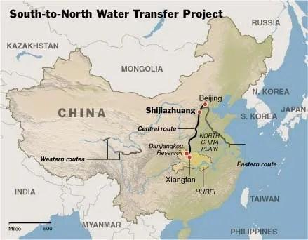 El proyecto pretende llevar el agua del sur de China hasta las más secas regiones del norte.
