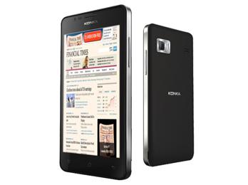 El teléfono Konka W990. Como casi todos los términales chinos, funciona con Android, el sistema operativo de Google.