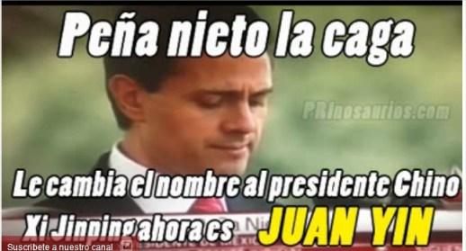 Captura de pantalla de una de las bromas sobre Peña Nieto