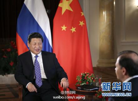 Xi Jinping entrevistado por la televisión rusa