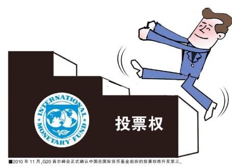 Con la reforma, China ascendería hasta el tercer puesto. [Viñeta publicada en China Social Sciences, 中国社会科学报]