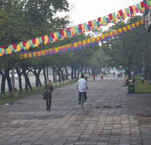 Calles de Pyongyang (FOTO: Daniel Méndez)