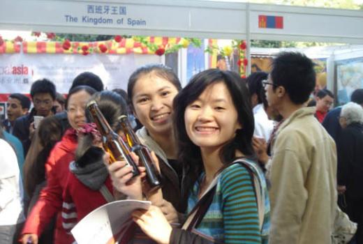 Dos estudiantes chinas en la Universidad de Pekín [FOTO: Daniel Méndez]