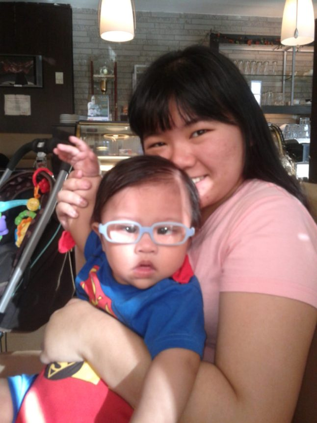 Little Z with Ninang RB