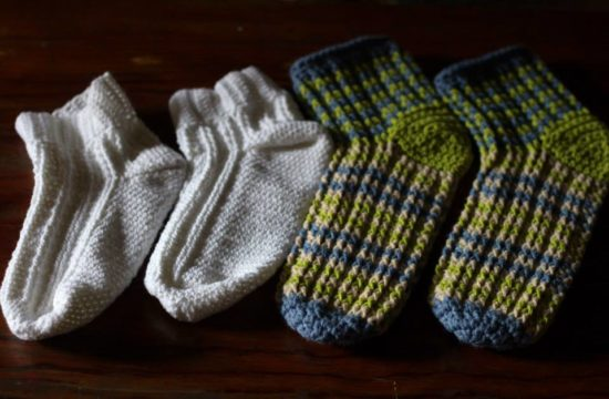 crocheted socks for the cold weather
