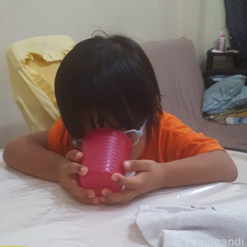 charming little boy_ cup