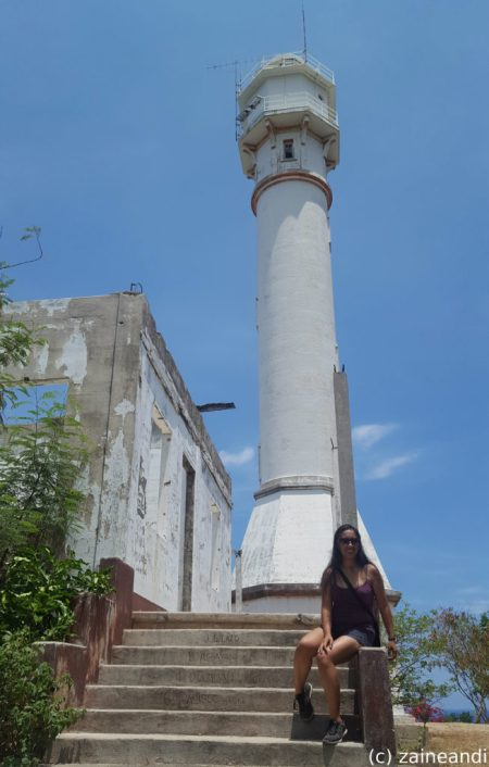 cape bolinao lighthouse ruins back steps
