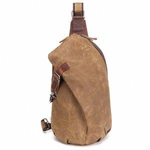 Aotian Unisex Zaino Monospalla Impermeabile La Ceretta Tela Borsa A Spalla Sling Bag Chest Bag Garanzia Due Anni 0