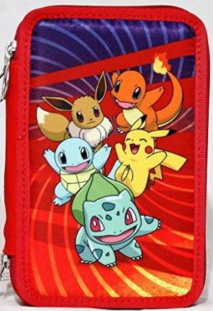 Astuccio Scuola Con 45 Pezzi 3 Cerniere Pokemon Rosso 0