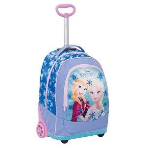 Big Trolley Disney Frozen Azzuro 30 Lt 2in1 Zaino Con Spallacci A Scomparsa Scuola Viaggio 0