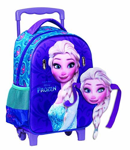 Gim 341 62072 Trolley Elsa Cartella A Rotelle Frozen 27 X 31 X 10 Cm 0