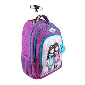 Gorjuss Cityscape Friends Walk Together Trolley Backpack 0