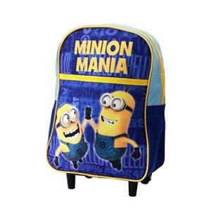 Kids Euroswan Minions Mania Zainetto Trolley Colore Blu Min16106 0