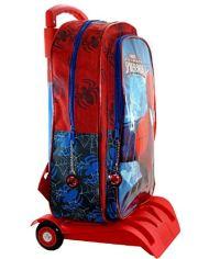 Marvel Spiderman Zaino Scuola Trolley Rimovibile 41x32x14cm Blu Rosso Elementari Medie 0 0
