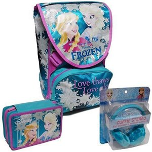 School Pack Schoolpack Frozen Set 2016 Zaino Love Glows Astuccio Accessoriato Cuffie 0