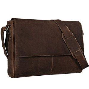 Stilord Oskar Vintage Messenger Bag Uomo Donna Pelle Borsa A Tracolla Universit Cuoio 156 Pollici Laptop Borsa Affari E Ufficio Vera Pelle Coloremarrone Medio 0
