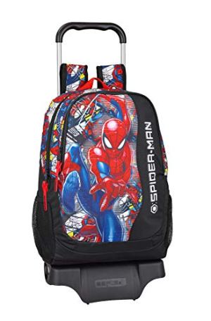 Spidermansuper Hero Ufficiale Zaino Scolastico Con Carrello 330 X 150 X 430 Mm 0