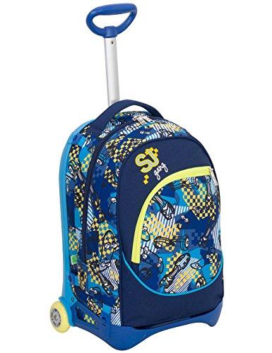 Trolley Jack Junior Sj Gang Blu 28 Lt Sganciabile E Lavabile Scuola E Viaggio 0