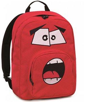 Zaino Invicta Ollie Face Pack Plain Rosso Ardente Tasca Porta Pc Padded Scuola E Tempo Libero Americano 25 Lt 0