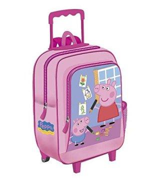 Zaino Trolley 37 Cm Peppa Pig Rosa 0