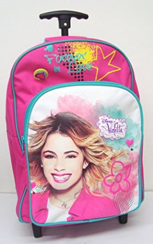 Zaino Trolley Scuola Elementare Disney Violetta Forever Dim 42x32x17 Cm 0