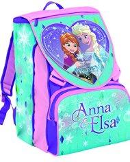 Zaino Scuola Estensibile Disney Frozen Magia Del Cuore Azzurro Rosa 31lt 0 0