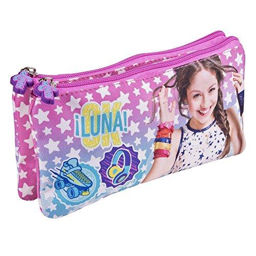 Perletti Astuccio Bambina Ragazza Disney Soy Luna Con Stelle Pratico Portatutto Con Doppia Cerniera Per La Scuola E Da Viaggio 10x21x6 Cm 0