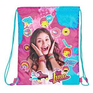 Perletti Sacca Porta Scarpe Bambina Disney Soy Luna Borsa Scarpe Impermeabile Sacchetto Portatutto Per Sport E Per Viaggio Rosa 39x31 Cm 0