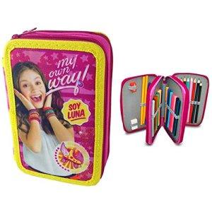 Soy Luna Disney Astuccio Triplo 3 Zip Accessoriato Scuola 0