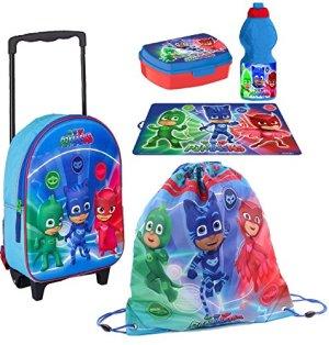 Pj Masks Super Pigiamini Zainetto Zaino Trolley In 3d Sacca Sport Set Colazione Merenda Scuola Materna Asilo Escursioni Tempo Libero 0