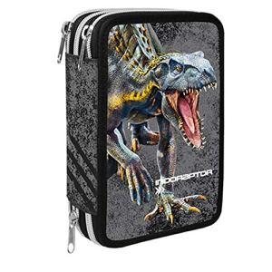 Jurassic World Astuccio Scuola 3 Zip Completo Di Cancelleria Collezione Scuola 201920 Licenza Ufficiale 0