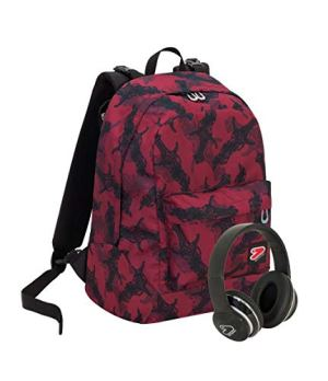 Zaino Seven The Double Dagger Bordeaux Cuffie Wireless 2 Zaini In 1 Reversibile 0