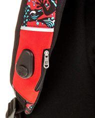 Zaino Scuola New Advanced Seven Reptil Selfie Remote Control Rosso 30 Lt Inserti Rifrangenti 0 1