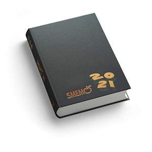 Smemo Diario 20202021 16 Mesi Antracite Logo Nero 11x15cm 0