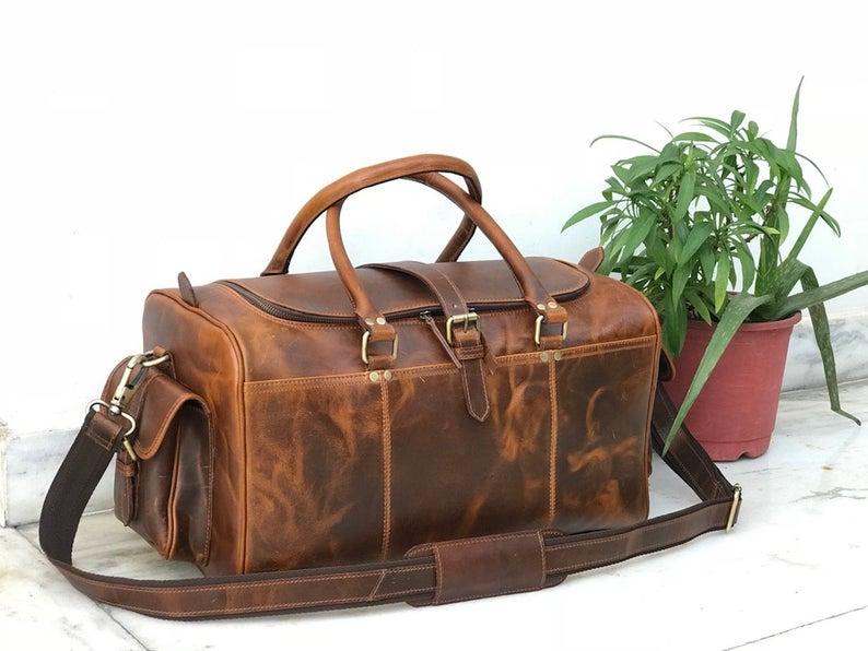 Zakara Leather Weekend Bag